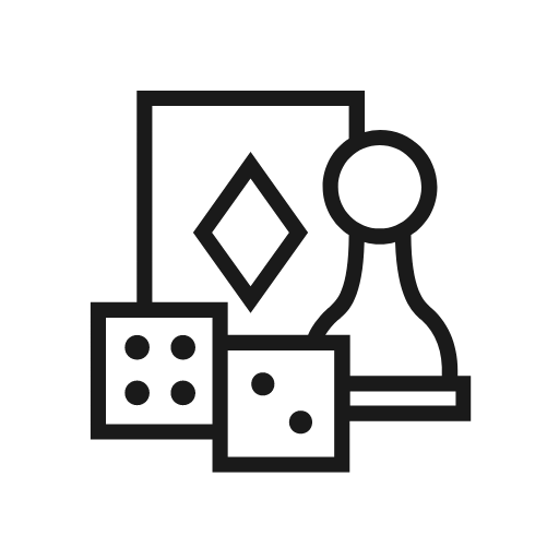 icon of pawn, dice, and card
